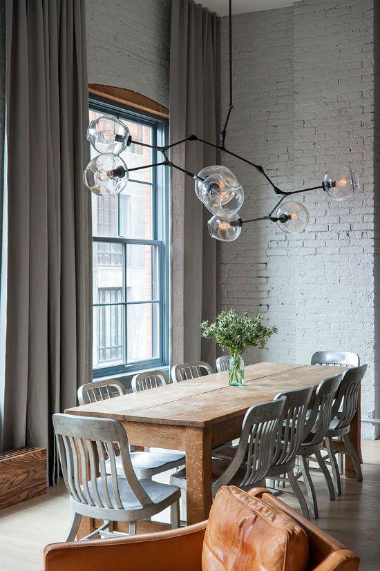 Branch Bubble Chandeliers Scandinavian Dining Room Loft Design