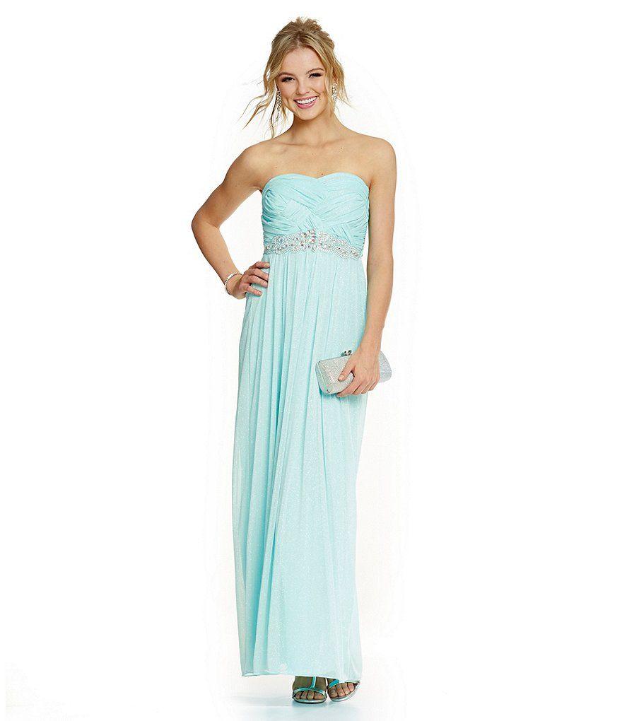 Jodi kristopher basketweave bodice glitter gown wedding