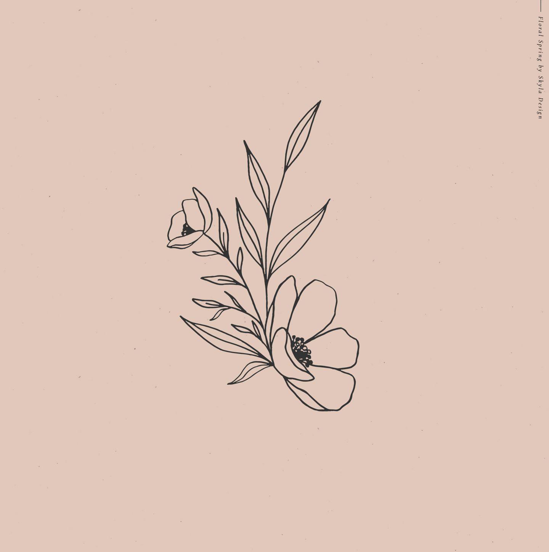 Photo of Floral spring illustration alphabet, # Floral spring illustration alphabet