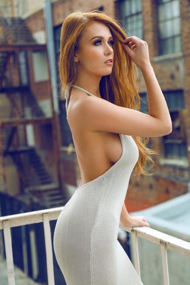 Undress redhead nylons