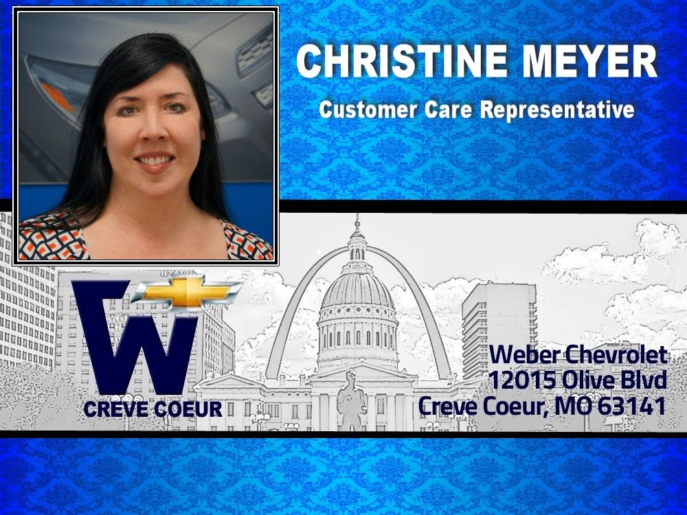 Captivating Christine Meyer   Customer Care Rep At Weber Chevrolet At And Olive In  Creve Coeur   Your St Louis Chevy Dealer