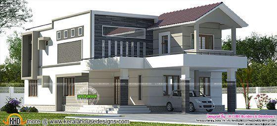 Modern Mix 2780 Sq Ft 4 Bedroom Home Modern House Design