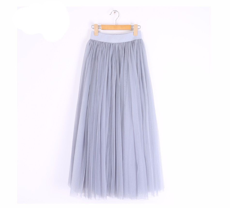 100cm Muslim Maxi Long Skirts 2016 Spring 3 Layers