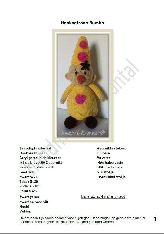 Haakpatroon Bumba Bumba Crochet Crochet Patterns En Crochet Toys