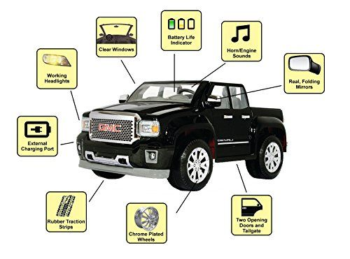 75c087fe7bdc160c59bd6988e4540084 rollplay 12v gmc sierra denali child's battery ride on, black  at honlapkeszites.co