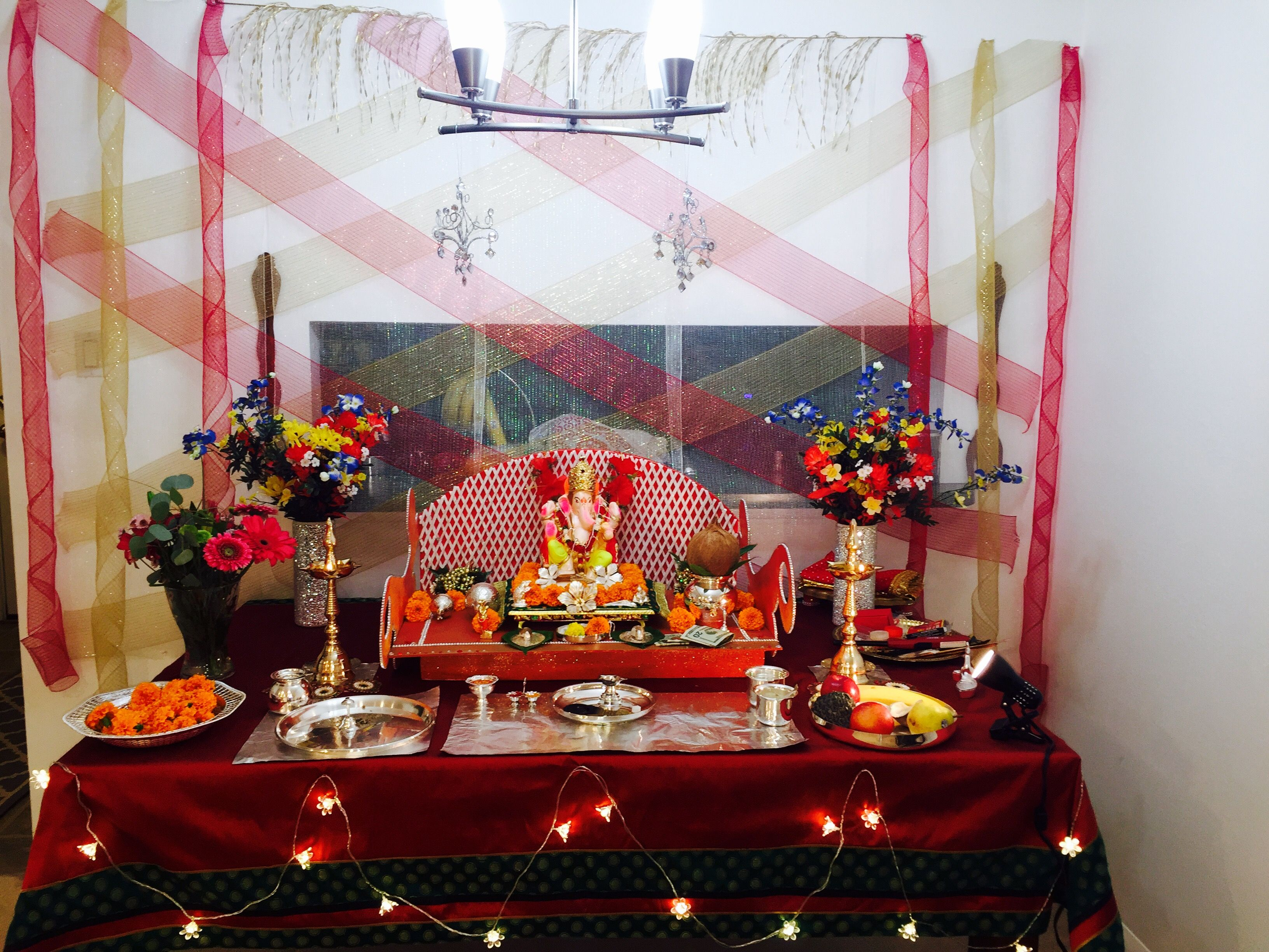 ganpati decoration at home for the home pinterest decoration