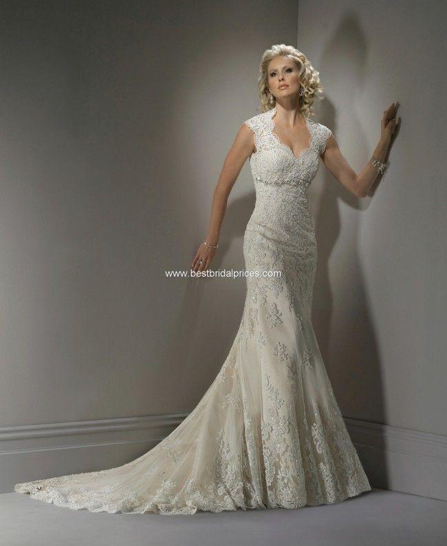 Maggie Sottero Bernadette Lace Size 8 Wedding Dress For Sale