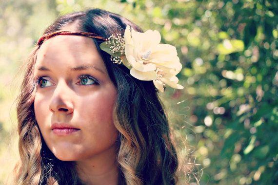 Alina Romantic Rustic Flower Crown Magnolia Flower Crown Flower Headpiece Flower Crown Rustic Flowers