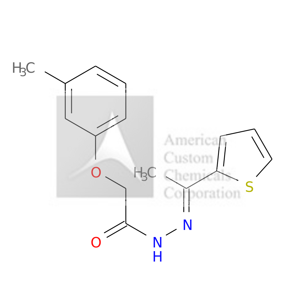 2-(3-METHYLPHENOXY)-N'-[1-(2-THIENYL)ETHYLIDENE]ACETOHYDRAZIDE is now  available at ACC Corporation