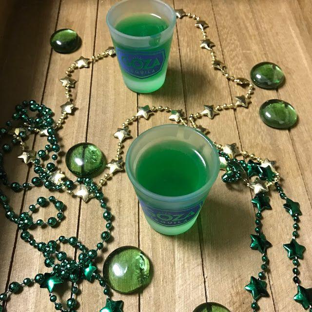 Shamrock Tequila Jello Shots