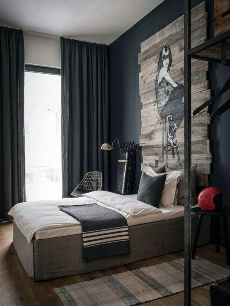 35+ Awesome Masculine Bedroom Design Ideas Page 40 of 46