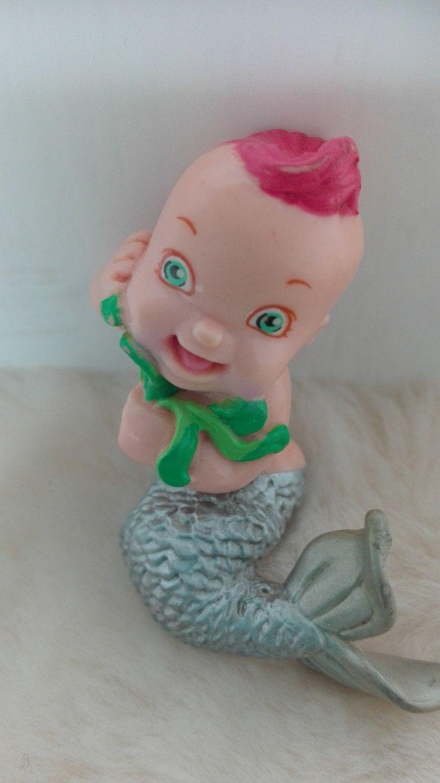 Lgt Magic Diaper Babies mermaid baby pink hair pvc toy figure - 1992 by MetalmanEd on Etsy
