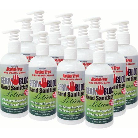 Germbloc Hand Sanitizer Lotion Bottles 12 Oz Products Lotion