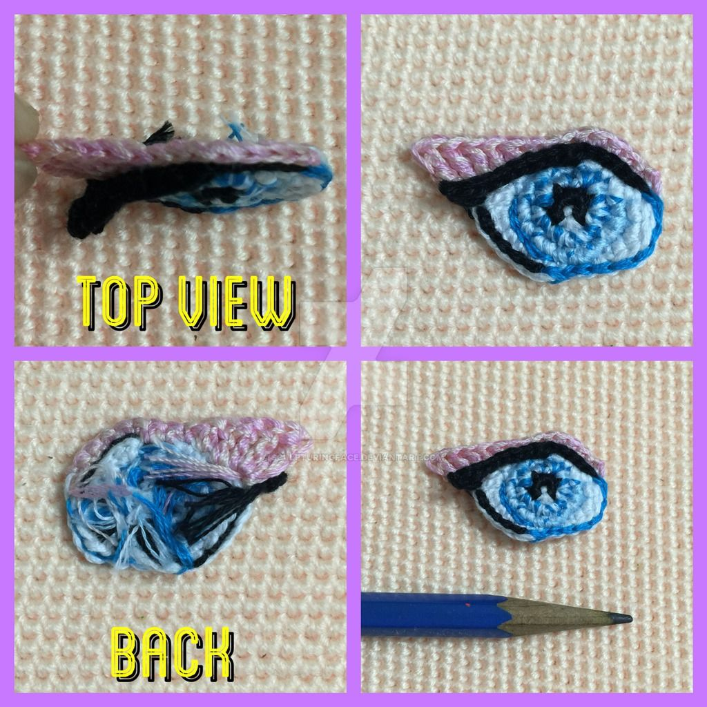 Cute Doll Eyes Crochet Tutorial - YouTube | 1024x1024