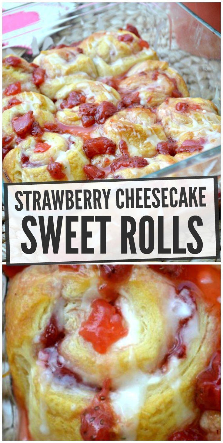 Strawberry Cheesecake Breakfast Rolls – Make the Best of Everything