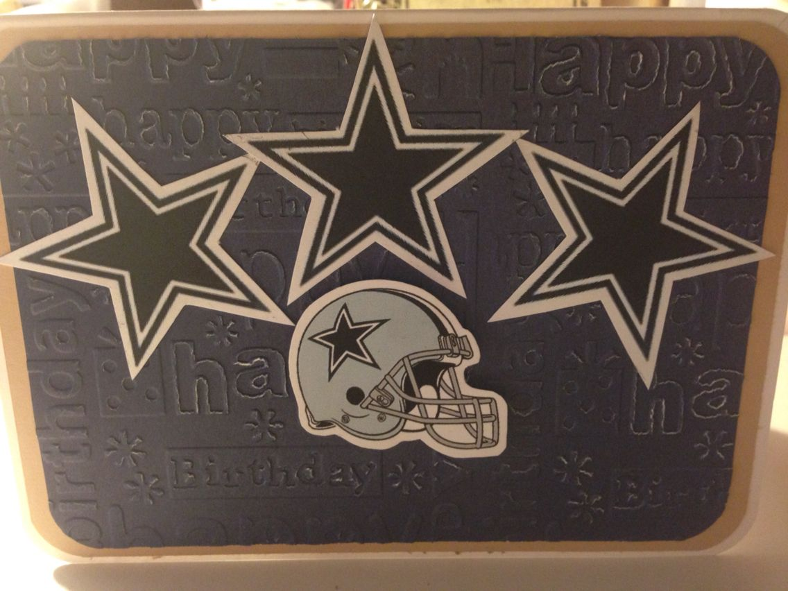 Dallas Cowboys Birthday Card Cards Pinterest Cards Handmade