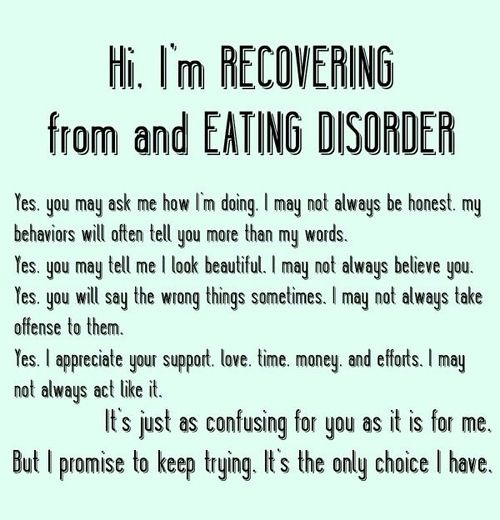 Anorexia Quotes Eating Disorder Recovery Quotes  My Eating Disorder  Pinterest .