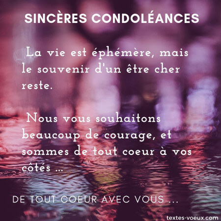Beaux Messages De Condoléances Pour Soutenir Une Personne En