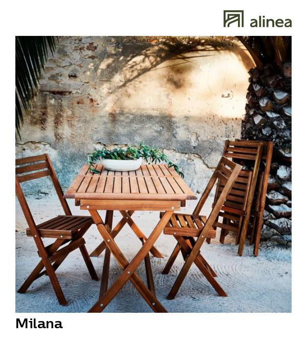 alinea : milana table de jardin extensible pliante en acacia ...