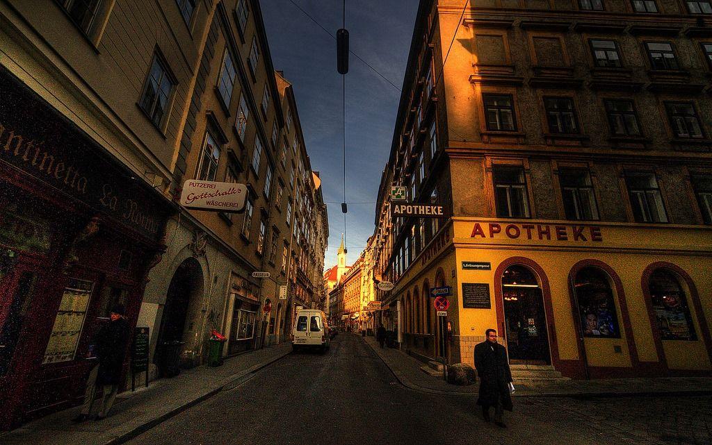 Gasse in Wien...