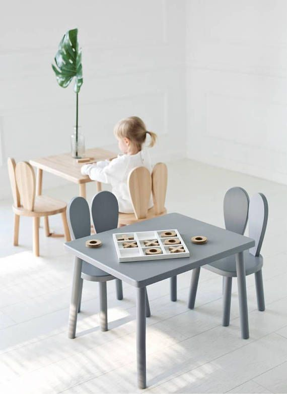 Cute Scandinavian Style Wooden Bunny Chair For Small Kidsroom Ad Scandinaviandesign Kidsroom Momlife Kids Table And Chairs Furniture Childrens Table
