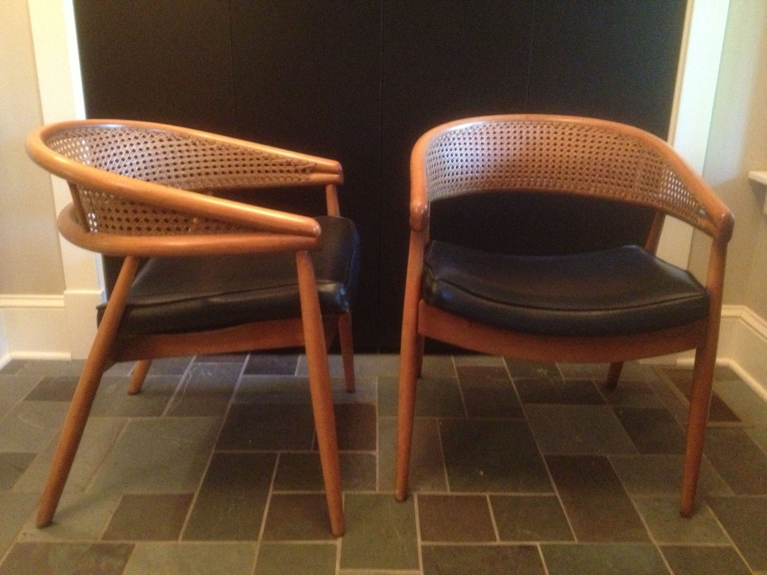 Cool Pair Of Bentwood And Woven Cane Side Chairs Attributed To Machost Co Dining Chair Design Ideas Machostcouk