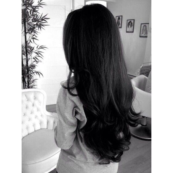 Long black hair ❤ liked on Polyvore featuring hair