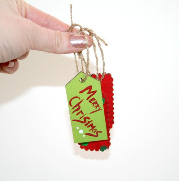 Hand Painted Christmas Gift Tags $5 for 3 on Etsy