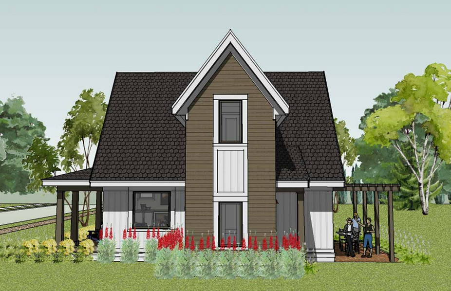 Best Small House Designs With A Pyramid Roof Shape Suitable For Frequent Rainfall Areas Small Cottage House Plans Best Small House Designs Small Cottage Homes