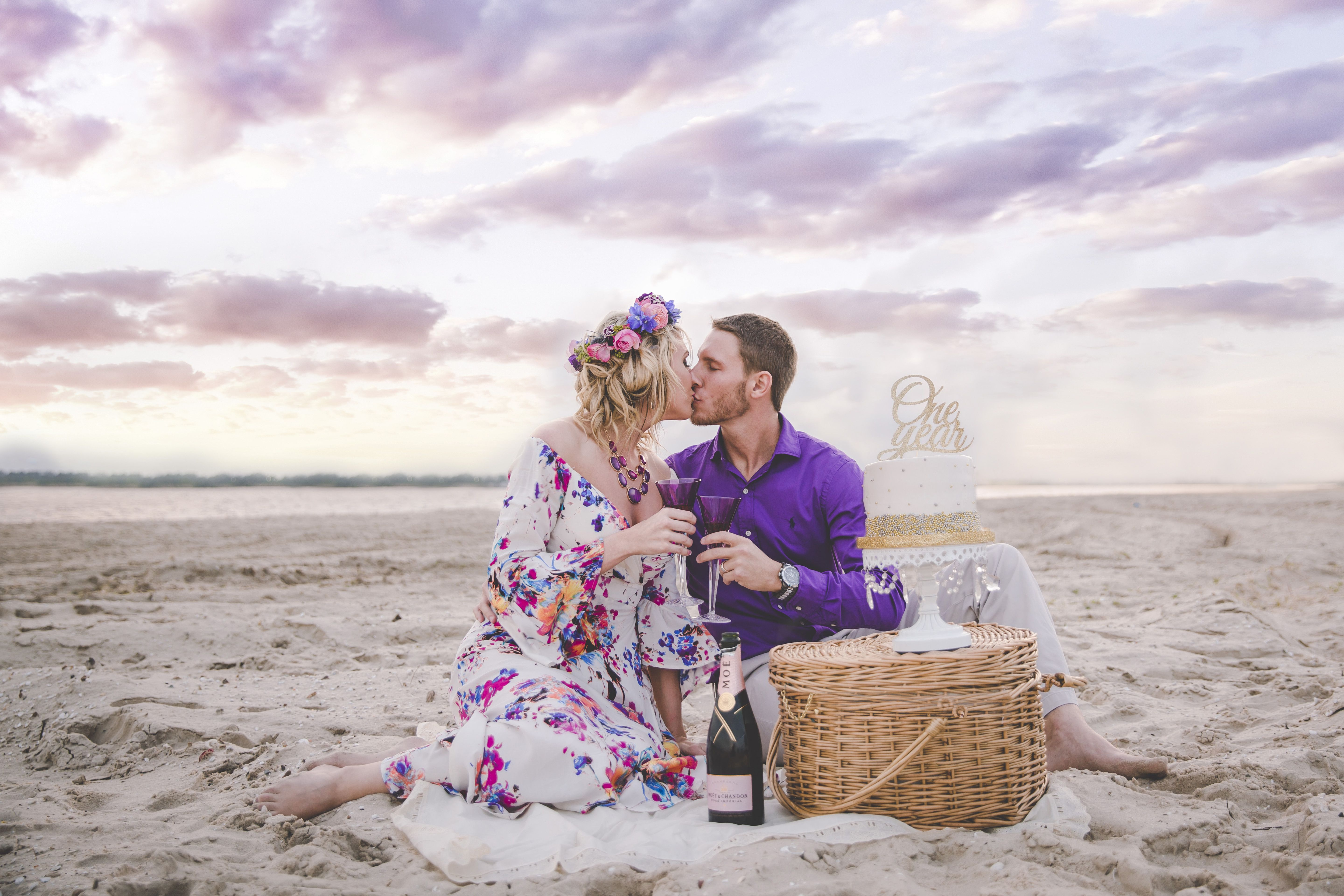 One Year Anniversary Pictures Beach Pictures Flower Crown