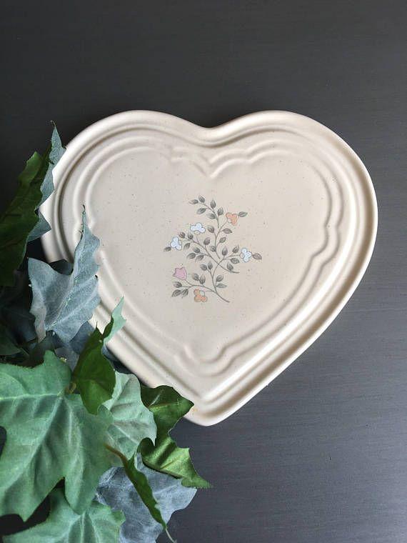Pfaltzgraff Remembrance Heart Trivet Vintage Stoneware | Pfaltzgraff ...