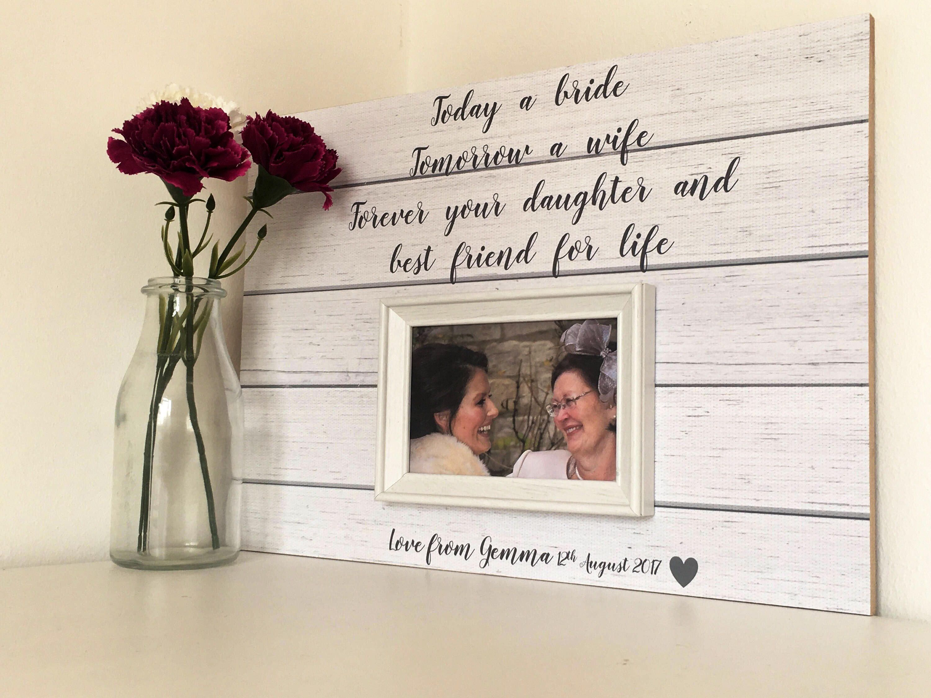 Mother Of The Bride Gift From Daughter Frame Wedding For Mom Custom Pas Thank You
