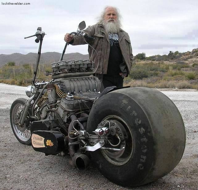Image result for v8 motorcycle with old man
