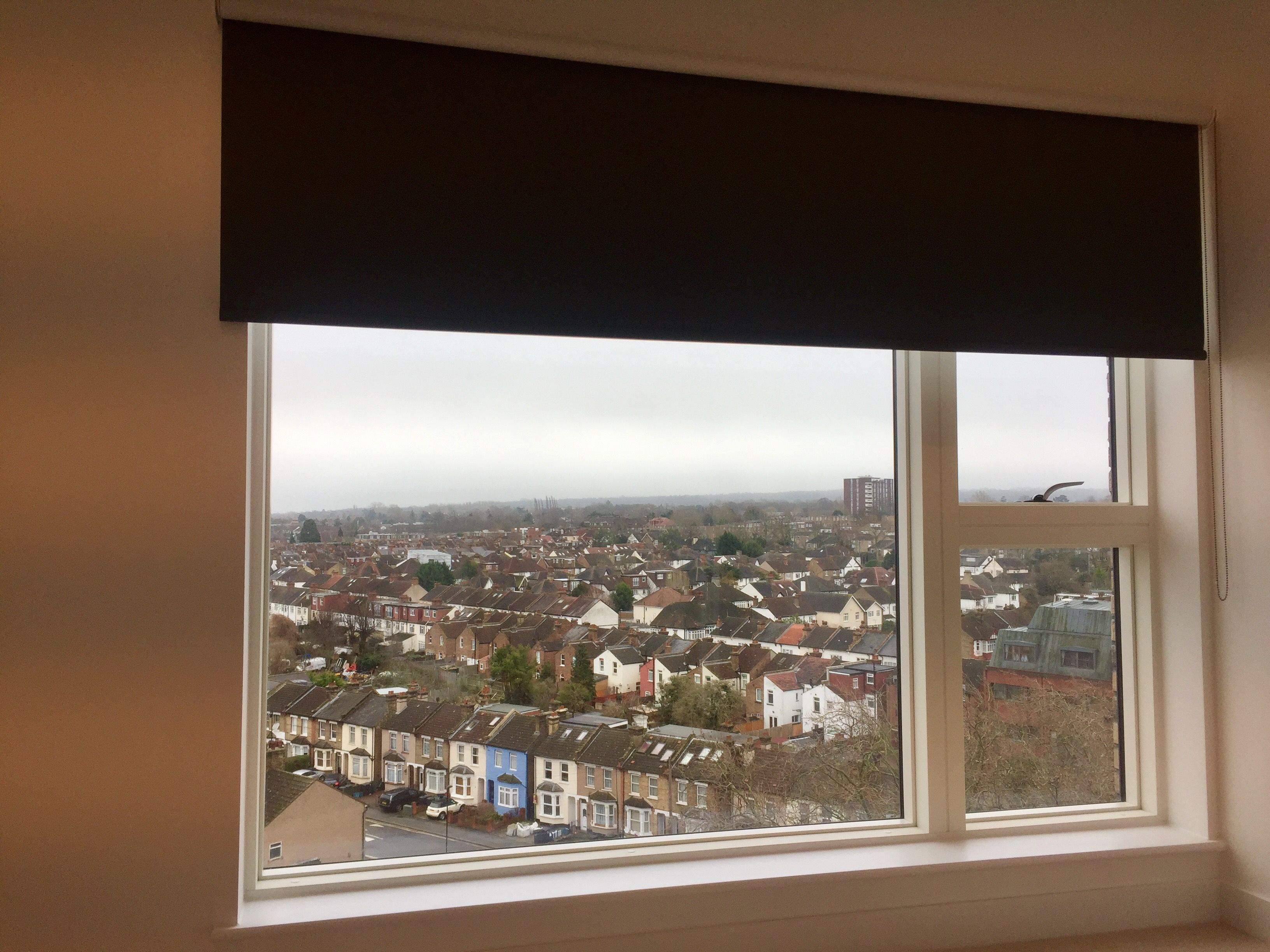 Blackout Roller Blind Fitted To Bedroom Window Blind Fitted
