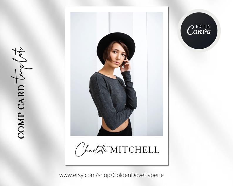 Comp Card Template Canva Template Comp Card Easy Editable Template Modeling Comp Card Template Fashion Comp Card Instant Download Model Comp Card Card Template Card Model
