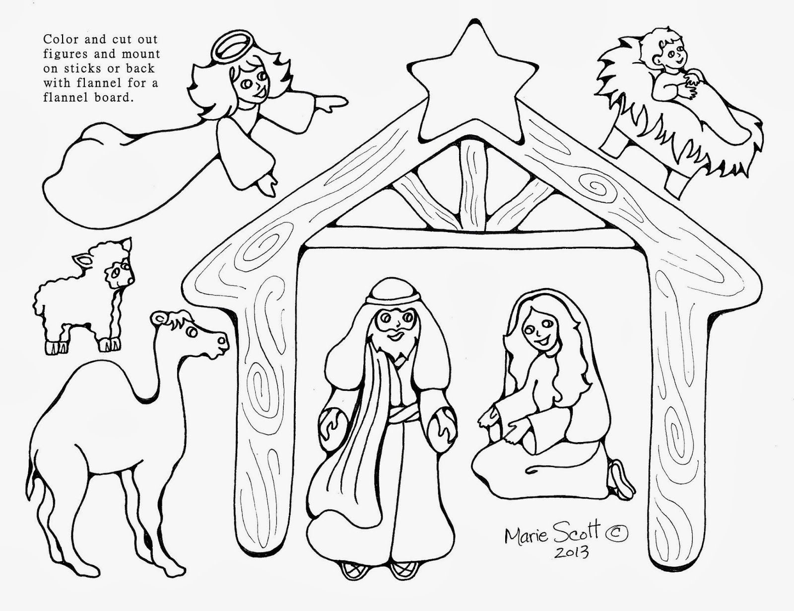 Nativity Figures Nativity Coloring Pages Nativity Coloring