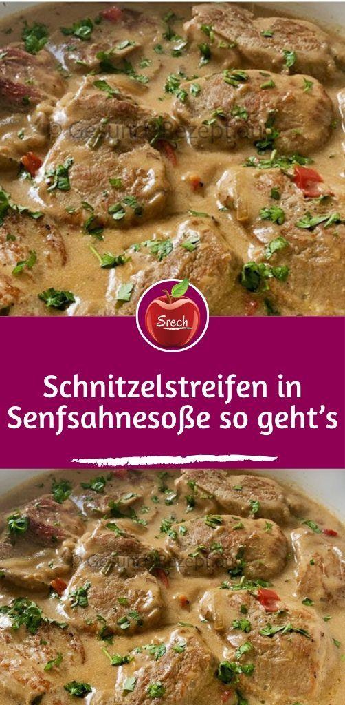 Photo of Schnitzel strips in mustard cream sauce