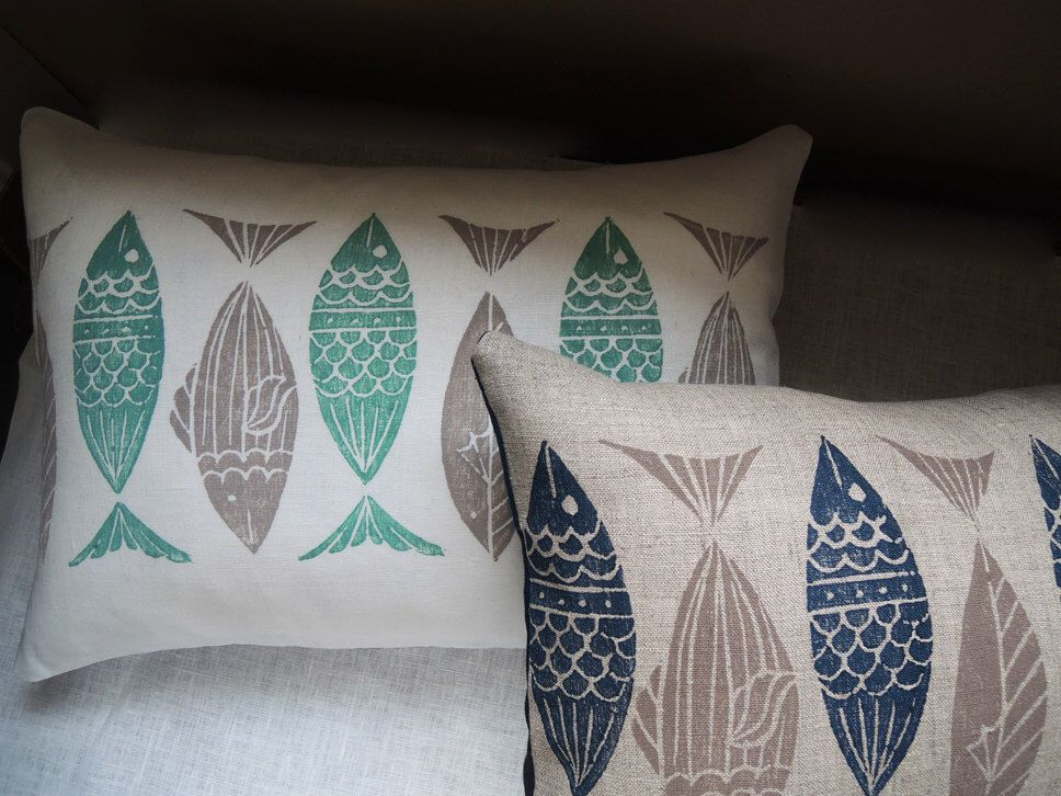 Anchovy hand hand block printed in your choice of colors