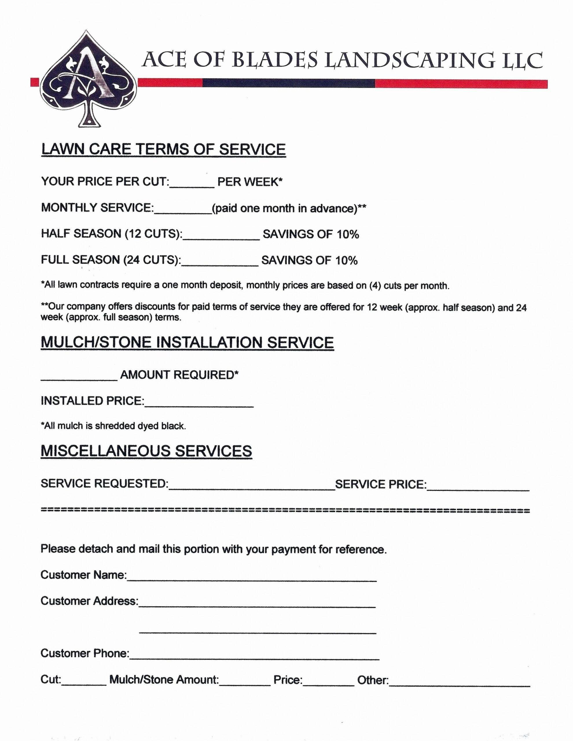Lawn Care Service Quote Template Lawn Care Business Lawn Maintenance Lawn Care