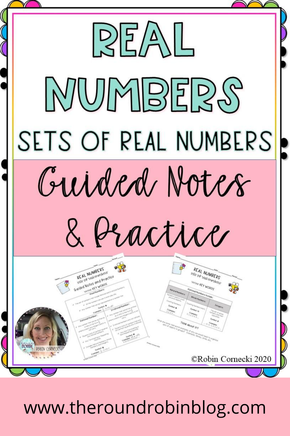 Real Numbers Sets of Real Numbers in 2020 Guided notes