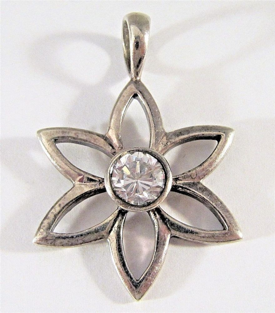 Silpada s1195 sterling silver with clear cz flower pendant retired silpada s1195 sterling silver with clear cz flower pendant retired 108g aloadofball Images