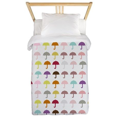 Cute Umbrellas Pattern Twin Duvet by Technotext - CafePress