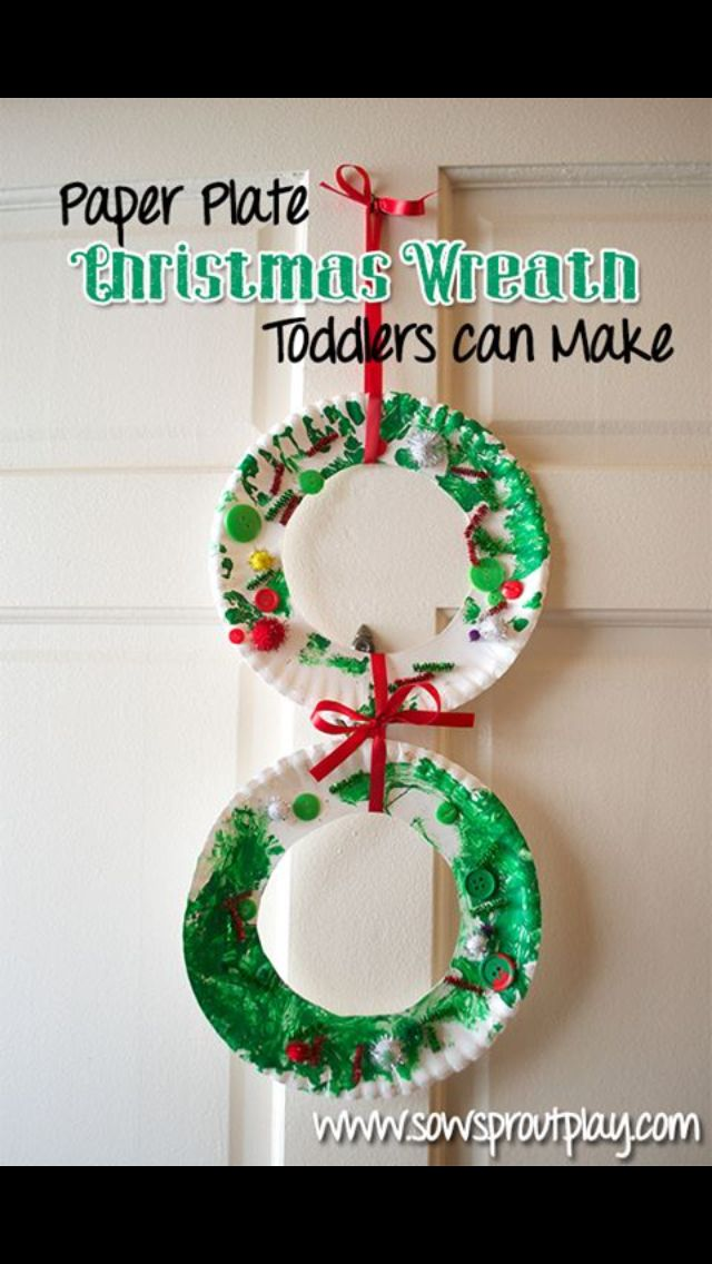 Paper plate wreath Art Projects for Toddlers Pinterest Wreaths
