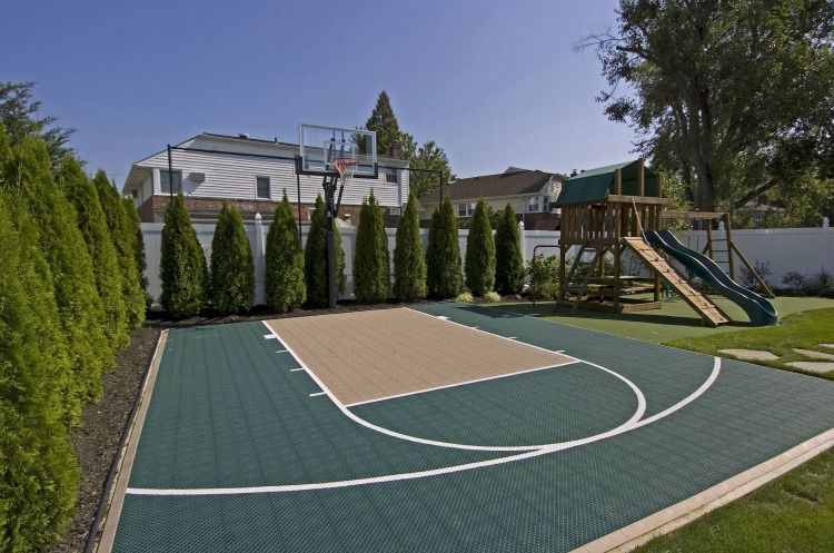Backyard sport court outdoor ideas fun pinterest Backyard sport court