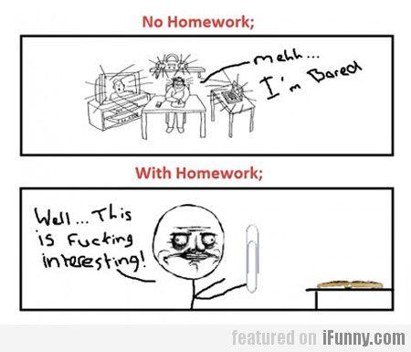 Homework vs no homework