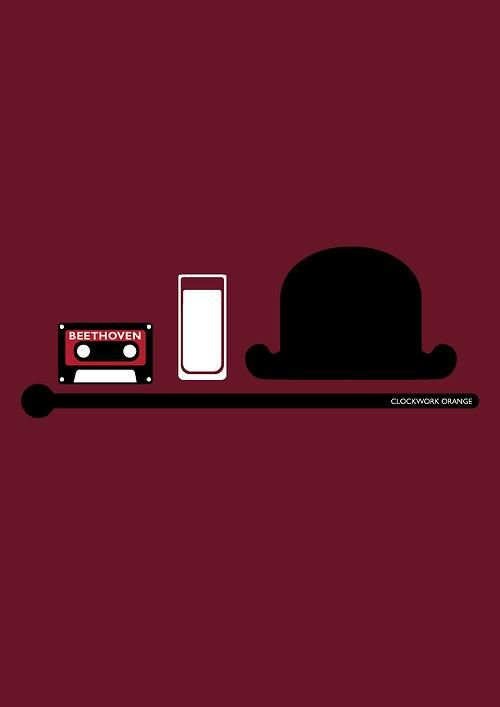 A Clockwork Orange - minimal movie poster | Horror ... A Clockwork Orange Minimalist Poster