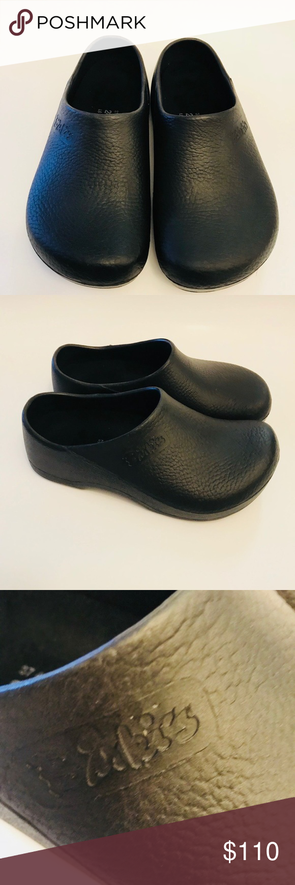 45cab375e0c6 Birkenstock Mens Women s Black Nursing Clogs The Birkenstock Profi Birki is  designed for the true professional