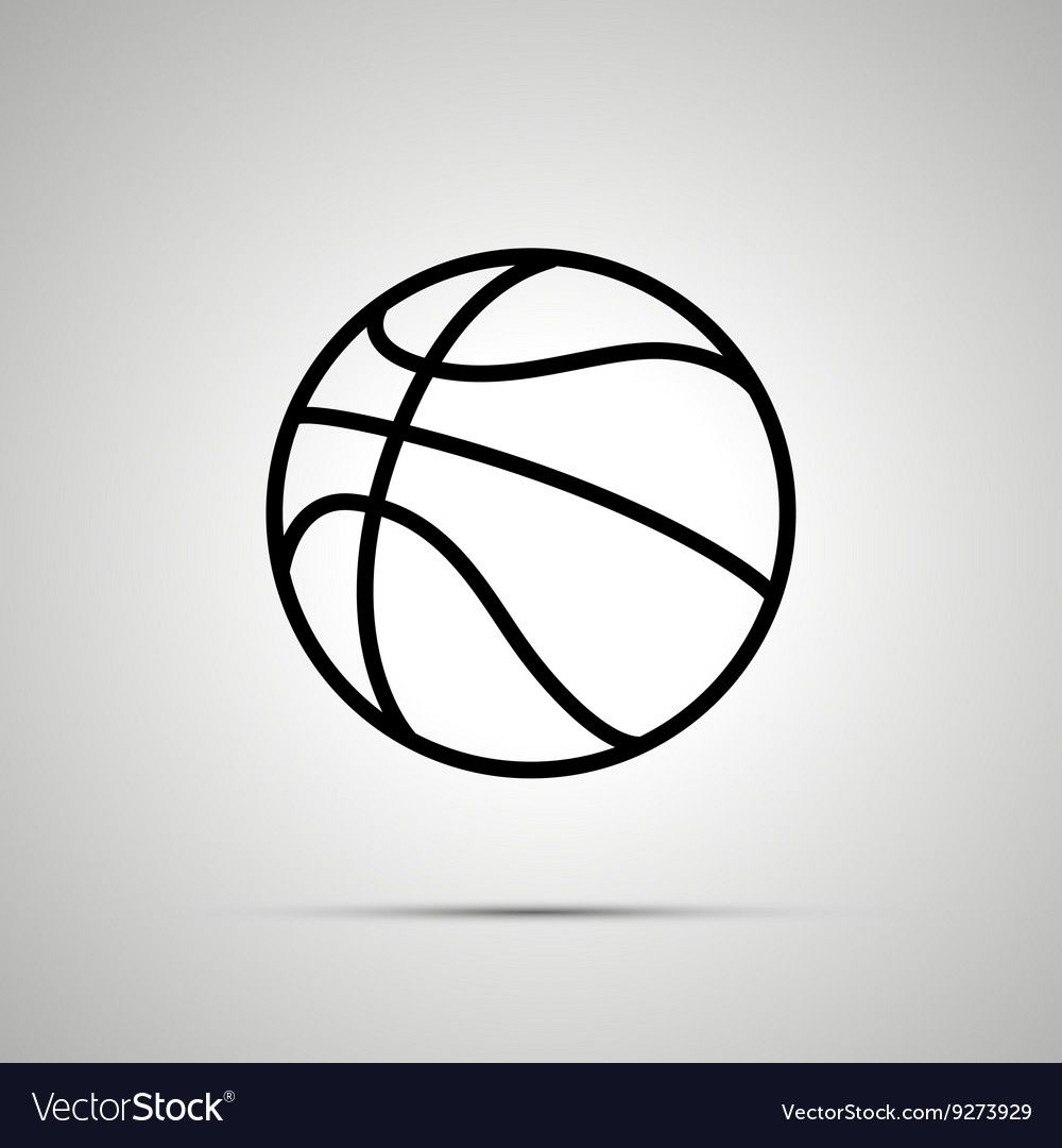Basketball Ball Simple Black Icon Royalty Free Vector Image Ad Simple Black Basketball Ball Ad Vector Free Free Vector Images Vector Images