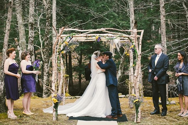 wooden branch outdoor chuppa - I know we can't have a chuppa, but a similar wedding arch would be so pretty!