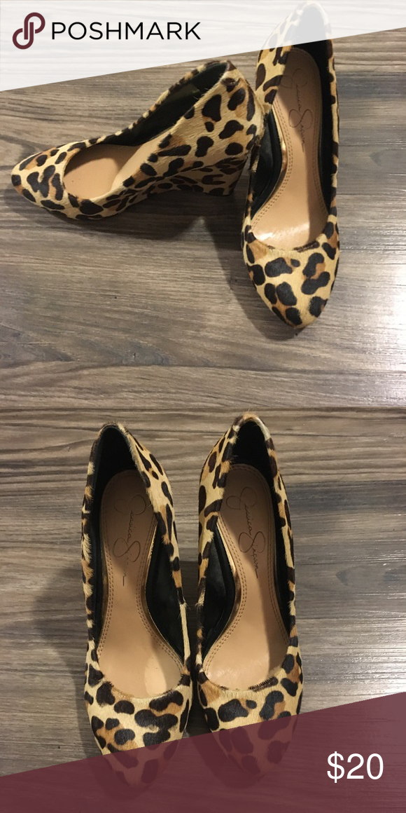 jessica simpson leopard print shoes